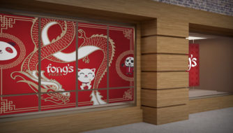 Fong's Pizza Window Wraps