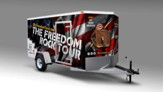 The Freedom Rock Trailer